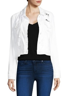 Paige Denim Distressed Crop Jacket