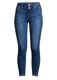 Paige Double-Button Ankle Jeans