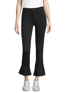 Paige Denim Flare Hem High-Rise Jeans