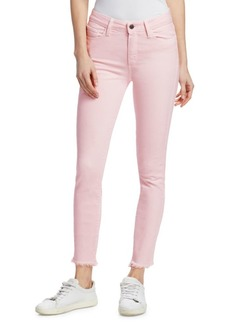 Paige Denim Hoxton High-Rise Straight Ankle Fray Jeans
