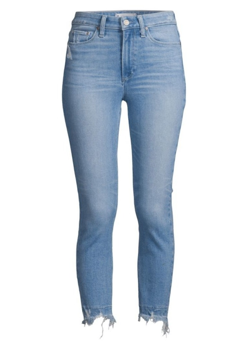 Paige Hoxton High-Rise Cropped Undone Jeans