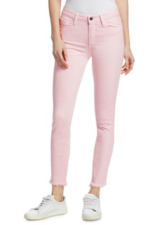 Paige Hoxton High-Rise Skinny-Straight Fray Jeans