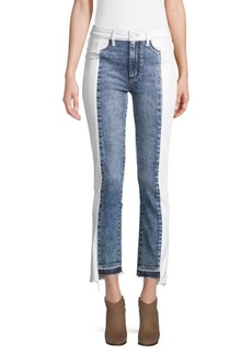 Paige Denim Hoxton Pieced Step Hem Skinny Jeans