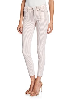 Paige Hoxton Skinny Ankle Jeans with Raw Hem