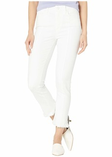 Paige Hoxton Slim Crop w/ Seaming + Back Curved Hem in Crisp White