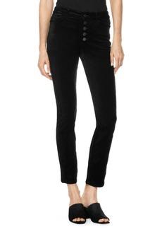 Paige Denim Hoxton High Rise Ankle Peg Velvet Trousers