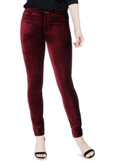 Paige Denim Hoxton Velvet High-Rise Skinny Jeans