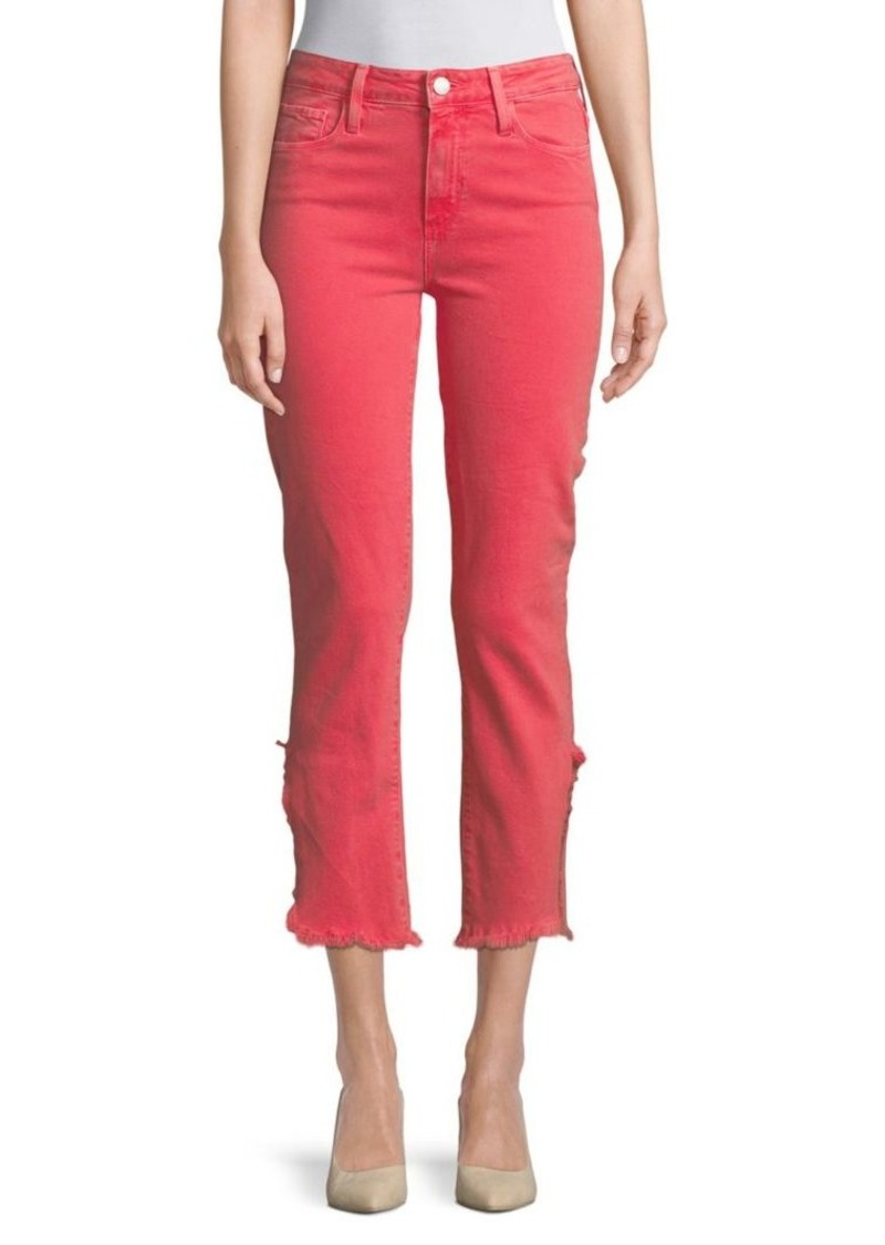 Paige Hoxton Vented Straight-Leg Cropped Jeans