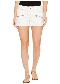 Paige Denim Indio Zip Shorts in Optic White