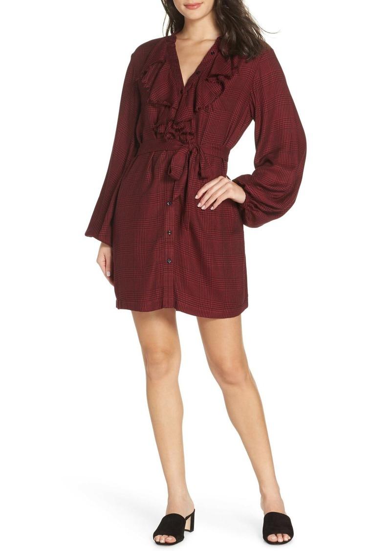 Paige Isabelle Plaid Shirt Dress