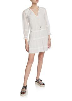 Paige Jaslene Tie-Front Short Dress