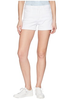 Paige Denim Jimmy Jimmy Shorts w/ Raw Cuff Hem in Crisp White