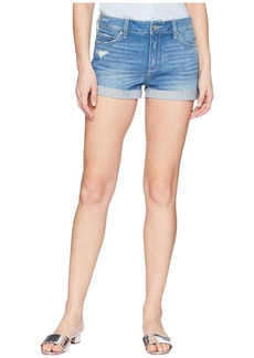 Paige Denim Jimmy Jimmy Shorts w/ Raw Cuff Hem in Finnick Destructed
