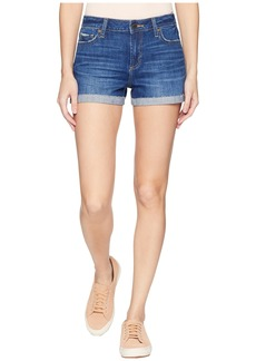 Paige Denim Jimmy Jimmy Shorts w/ Raw Hem Cuff in Selina