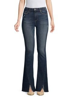 Paige Denim Lou Lou High-Rise Flare Split Hem Jeans
