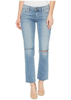 Paige Denim Miki Straight with Raw Hem in Bella Destructed