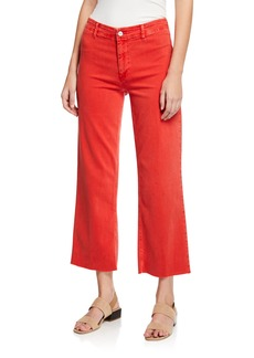 Paige Nellie Clean-Front Culotte Pants