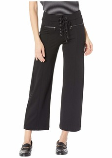 Paige Denim Nellie Culotte with Lace-Up in Black
