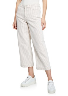 Paige Nellie Striped Cropped Culottes