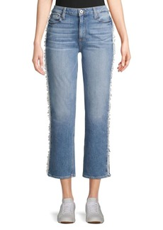 Paige Noella Cropped Straight-Leg Jeans
