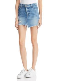 Paige Denim PAIGE Afia Frayed Denim Skirt in Dunlee - 100% Exclusive