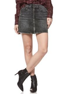 Paige Denim PAIGE Aideen Zip Front Denim Miniskirt