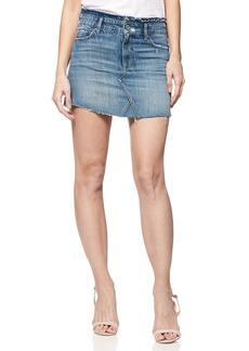 Paige Denim PAIGE Alethea Frayed Denim Miniskirt