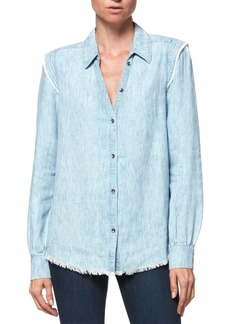 Paige Denim Paige Alia Linen Blend Top
