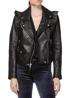 Paige Denim PAIGE Annika Leather Moto Jacket