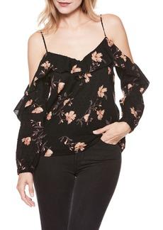 Paige Denim PAIGE Arabeth Floral Cold Shoulder Blouse