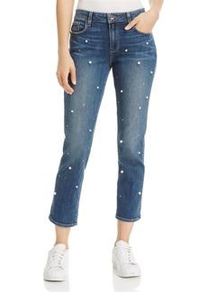 Paige Denim PAIGE Brigitte Slim Boyfriend Crop Jeans in Allover Pearl