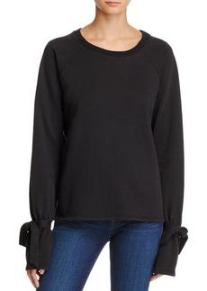 Paige Denim PAIGE Calandra Tie-Sleeve Sweatshirt