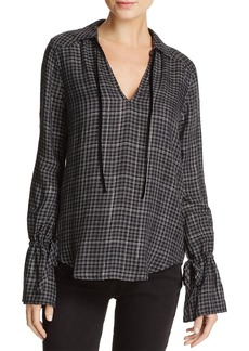 Paige Denim PAIGE Calissa Metallic Plaid Shirt