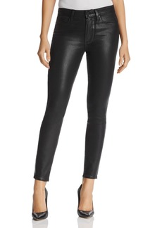 Paige Denim PAIGE Coated Hoxton Ankle Skinny Jeans in Black Fog Luxe