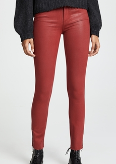 Paige Denim PAIGE Coated Hoxton Ankle Zip Jeans
