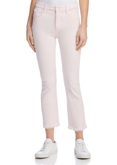 Paige Denim PAIGE Colette Crop Jeans in Faded Cotton Candy Pink - 100% Exclusive