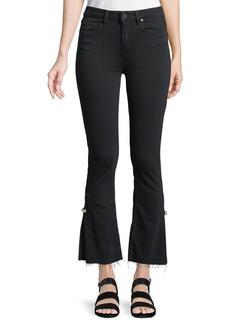 Paige Denim PAIGE Colette Cropped Flare Jeans w/ Raw Hem