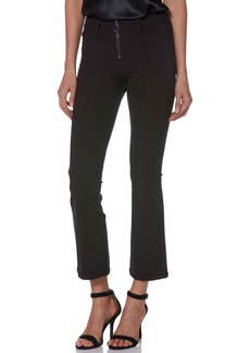 PAIGE Colette Zip High Waist Crop Flare Ponte Pants