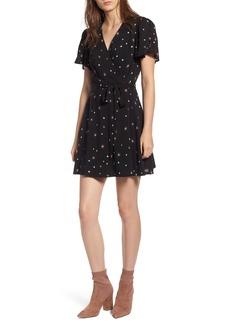 Paige Denim PAIGE Corinth Star Print Wrap Dress