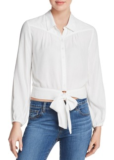 Paige Denim PAIGE Damaris Tie-Front Blouse - 100% Exclusive