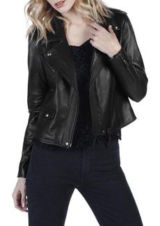 Paige Denim PAIGE Danette Leather Moto Jacket