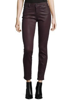 Paige Denim Verdugo Luxe-Coated Ultra-Skinny Ankle Jeans