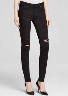 Paige Denim Destructed Verdugo Transcend Jeans in Black Shadow