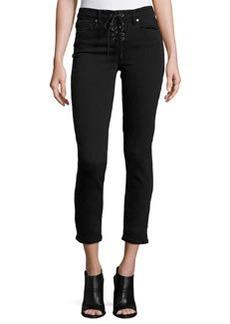 Paige Denim Hoxton Lace-Up Ankle Peg Jeans