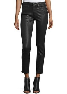 Paige Denim Hoxton Luxe-Coated Skinny Ankle Jeans