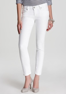 Paige Denim PAIGE Skyline Ankle Peg Jeans in Optic White