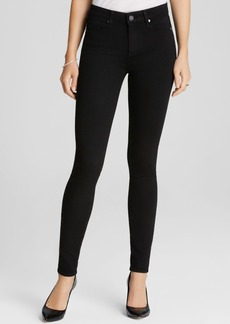 Paige Denim Jeans - Transcend Hoxton High Rise Ultra Skinny in Black Shadow