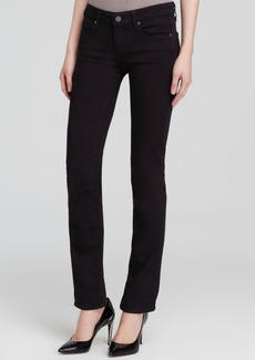 Paige Denim Jeans - Transcend Skyline Straight in Black Shadow