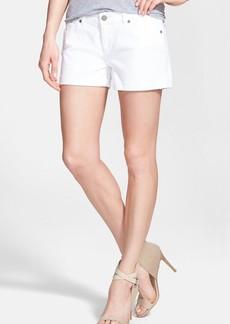 Paige Denim 'Jimmy Jimmy' Cuff Denim Shorts (Optic White)