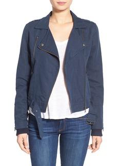 Paige Denim 'Marjorie' Twill Moto Jacket
